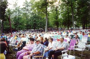 Bill Monroe's Memorial Music outdoor amphitheater