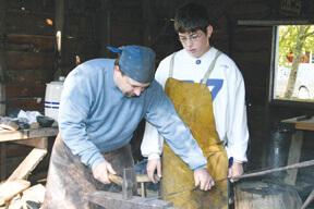 Blacksmith Jerry Baughman and Eric Long
