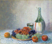 Fruit and Bottle painting