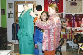 Kimberly Fong with Barbara Livesey, designer