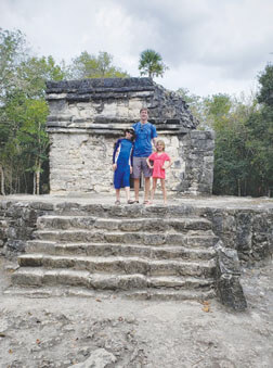 Nolan, Lance, and Ella during last year's spring break in Mexico