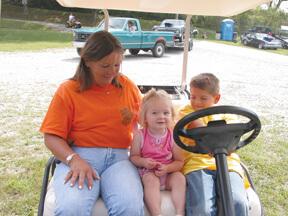 Sandy Fields and grandchildren