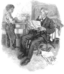 Vawter illustrations from Songs of Home by James Whitcomb Riley