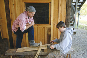 Woodcrafter Paul Henderson with Seth Lindley