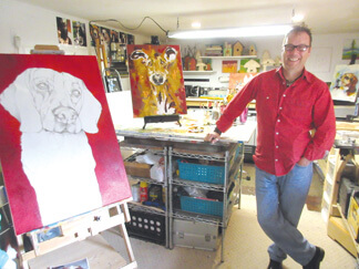 Artist Mark Schmidt