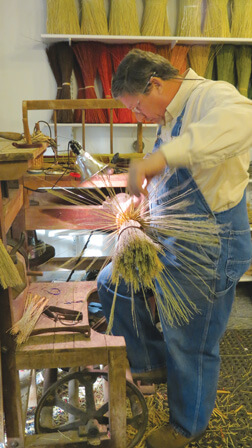 Brian Newton, broom maker