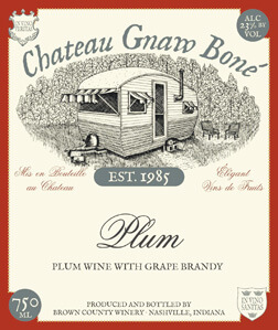 Brown County Winery bottle labels - Chateau Gnaw Bone