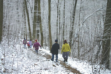Brown County Winter Hike - Brown County State Park