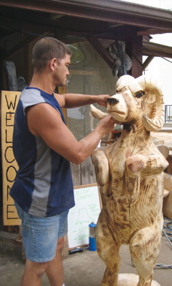Chris Trotter, Chainsaw Artist