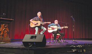 Dave Gore and Robbie Bowden at the Brown County Playhouse