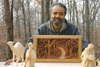 Jerome Sanderson, Woodcarver