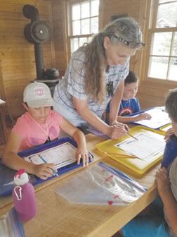 Kathy Sparks teaching kids