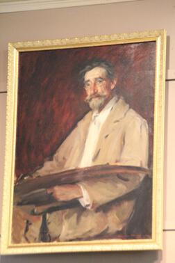 Portrait of T.C. Steele by Wayman Adams