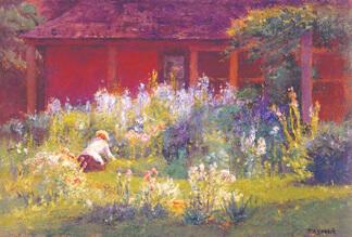 """""""Selma in the Garden"""" by T.C. Steele"""
