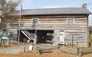 "old barn housing the ""Loom Room"""